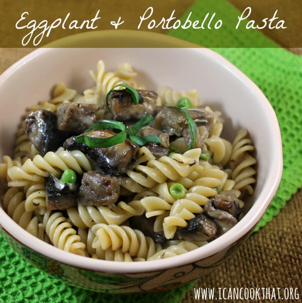 Eggplant & Portobello Pasta #BeerLoversHH