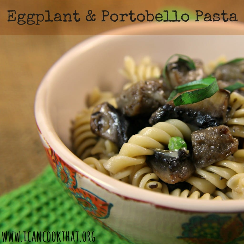 Eggplant and Portobello Pasta #BeerLoversHH
