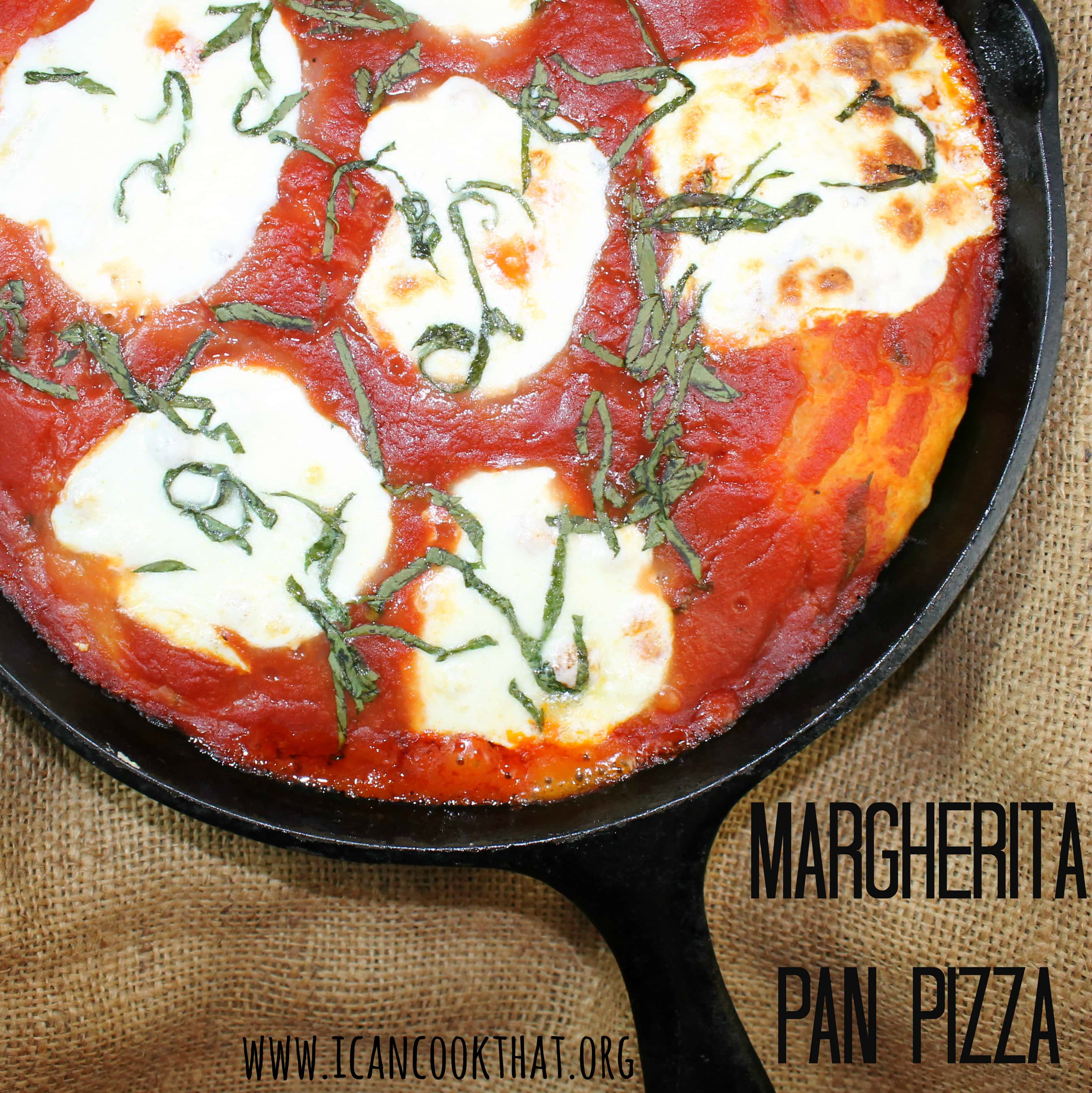 Margherita Pan Pizza