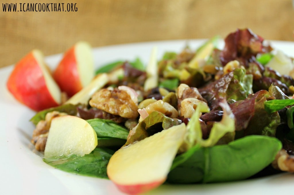 Autumn Apple Salad with Cinnamon Honey Dijon Dressing