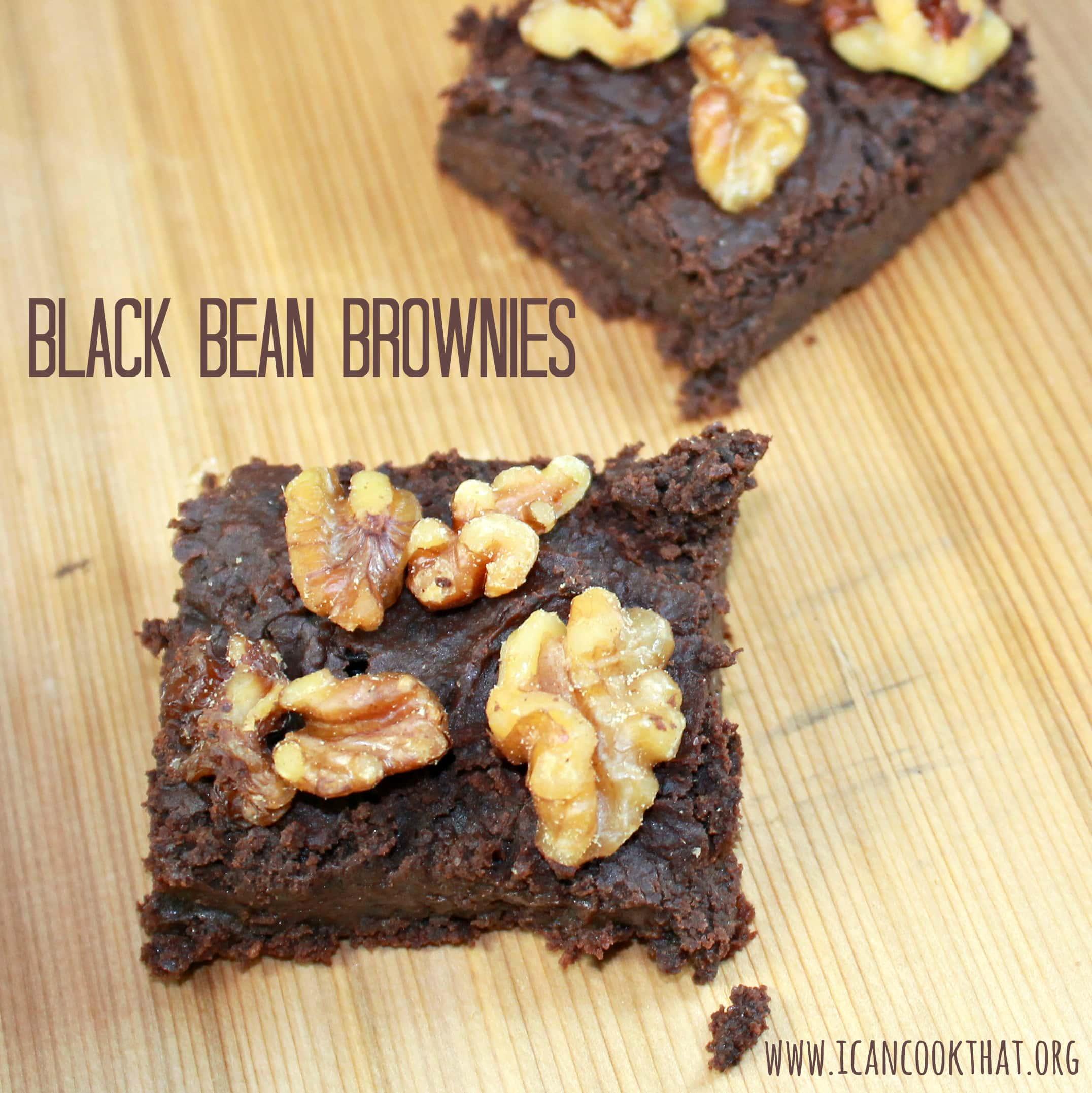 Gluten Free Vegan Black Bean Brownies Recipe | I Can Cook That