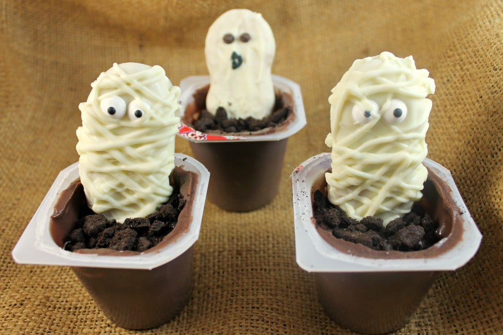 Ghost and Mummy Snack Pack Pudding Cups