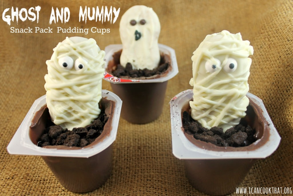 Ghost and Mummy Snack Pack Pudding Cups #SnackPackMixins #shop