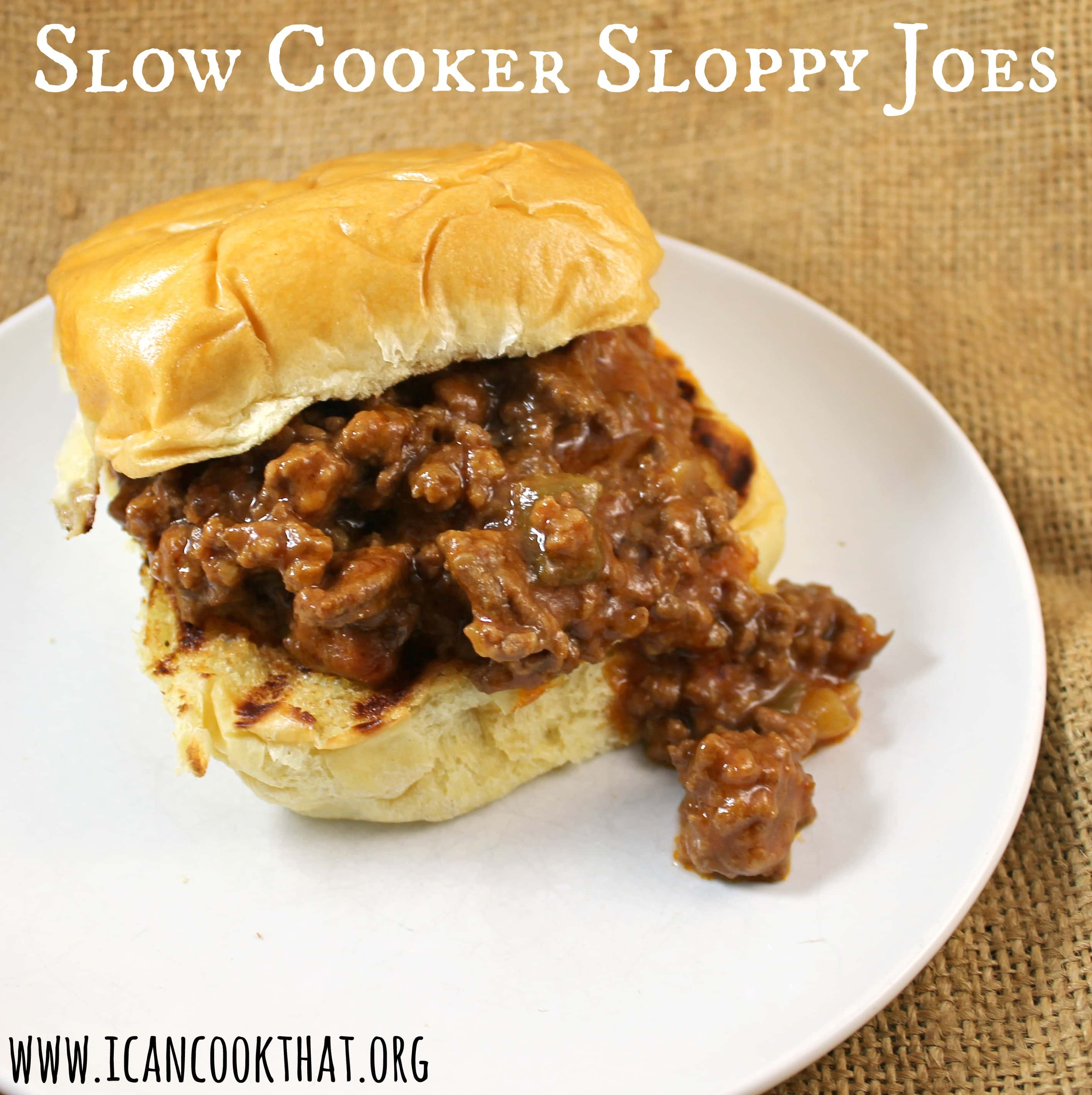 Slow Cooker Sloppy Joes Sandwich Recipe | I Can Cook That
