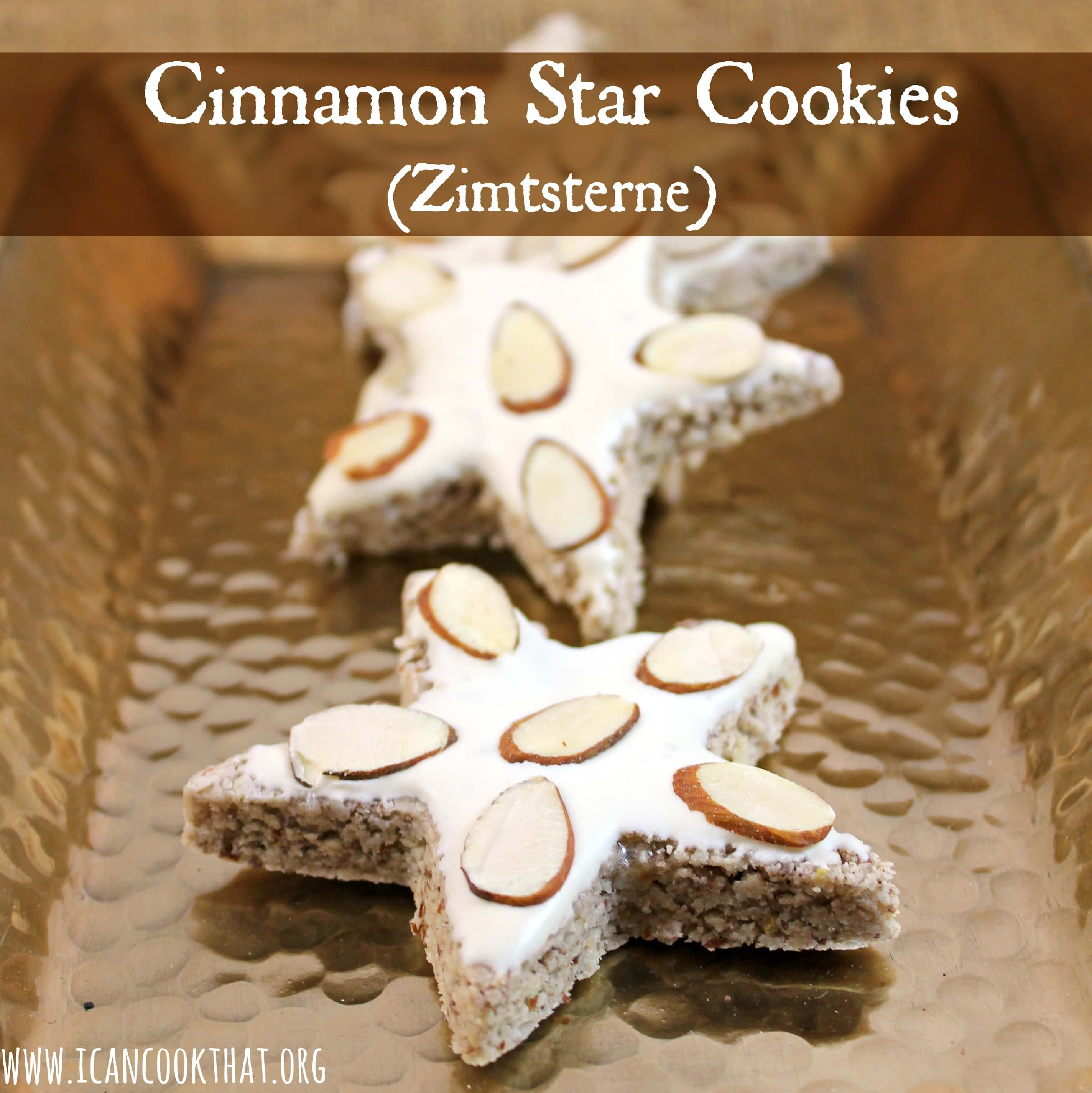 Gluten Free Cinnamon Star Cookies Zimtsterne Recipe I Can Cook That