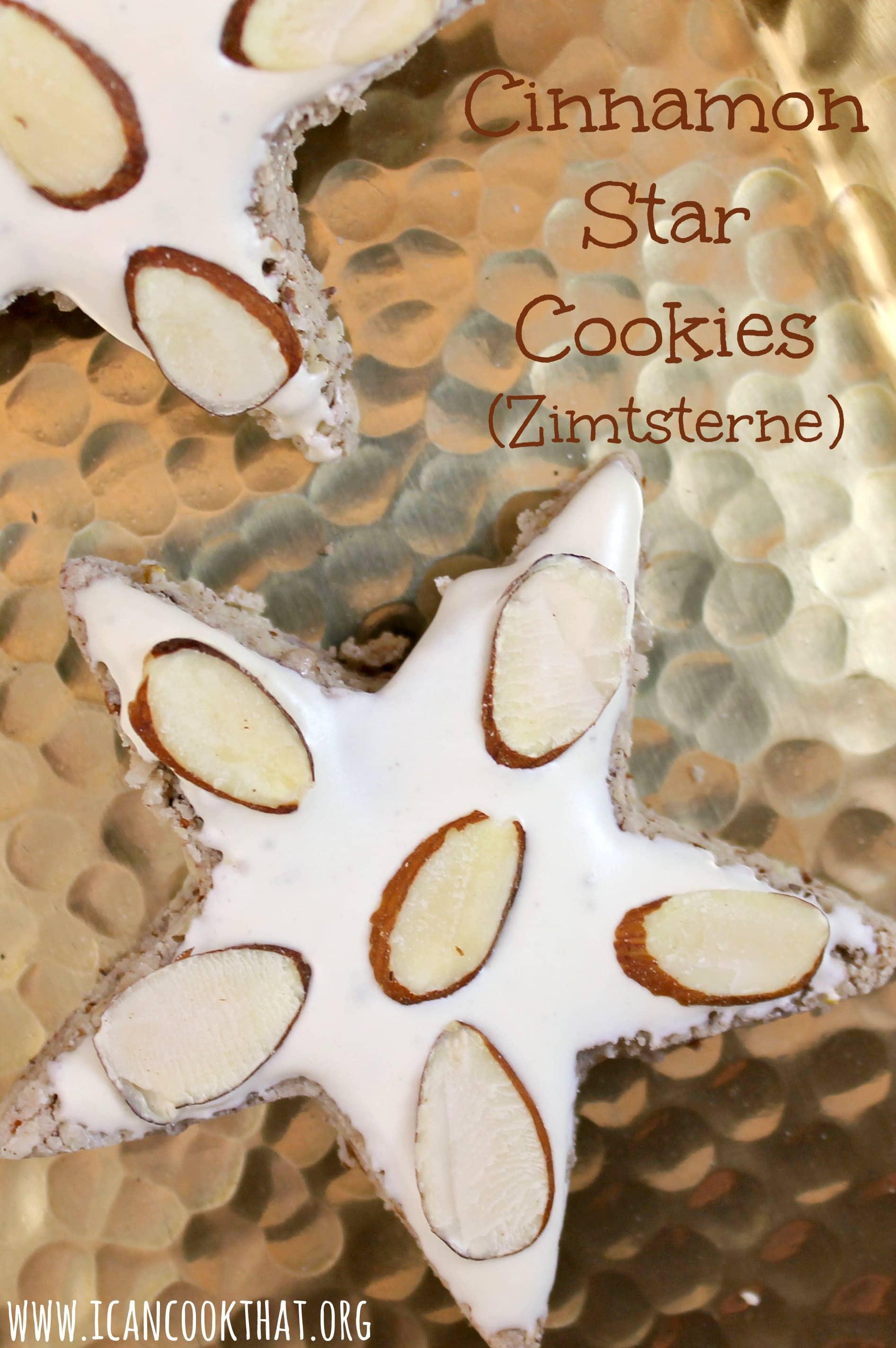 Gluten Free Cinnamon Star Cookies Zimtsterne Recipe I Can Cook That