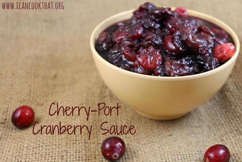 Cherry-Port Cranberry Sauce