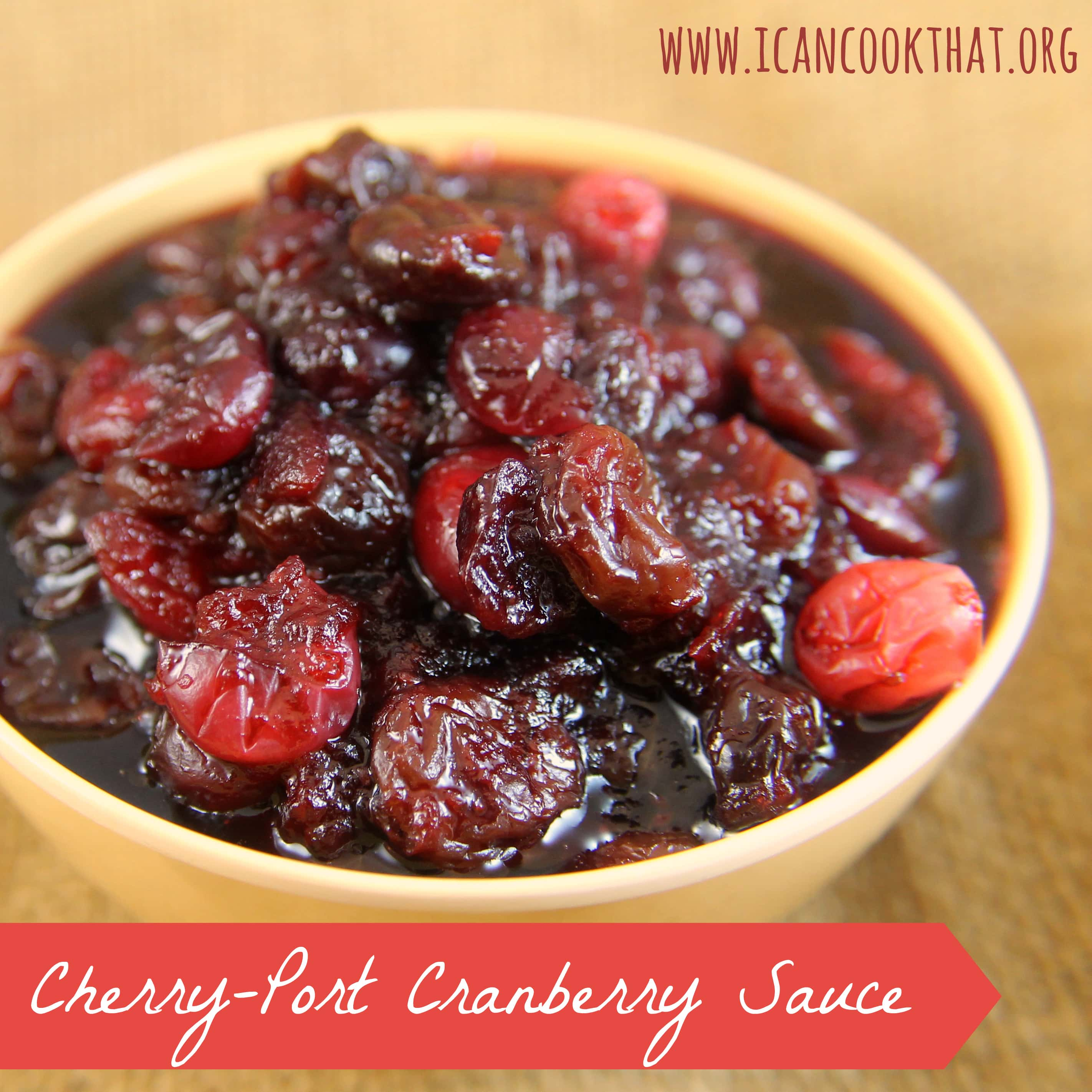Cherry-Port Cranberry Sauce Recipe | I Can Cook That