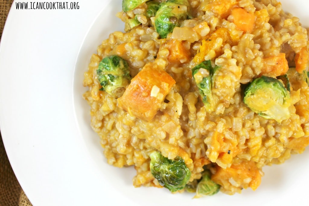 Sweet Potato And Gorgonzola Farro Risotto Recipe — Dishmaps