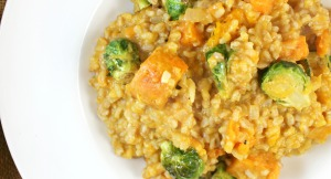 Winter Risotto with Farro and Arborio Rice