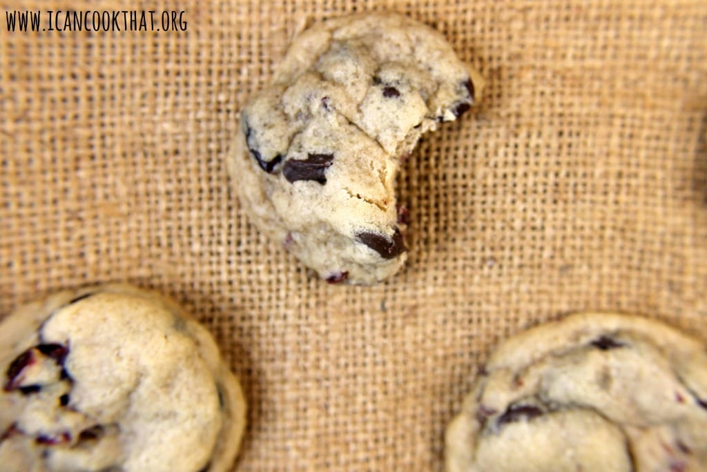 Dark Chocolate Chip Cranberry Cookies
