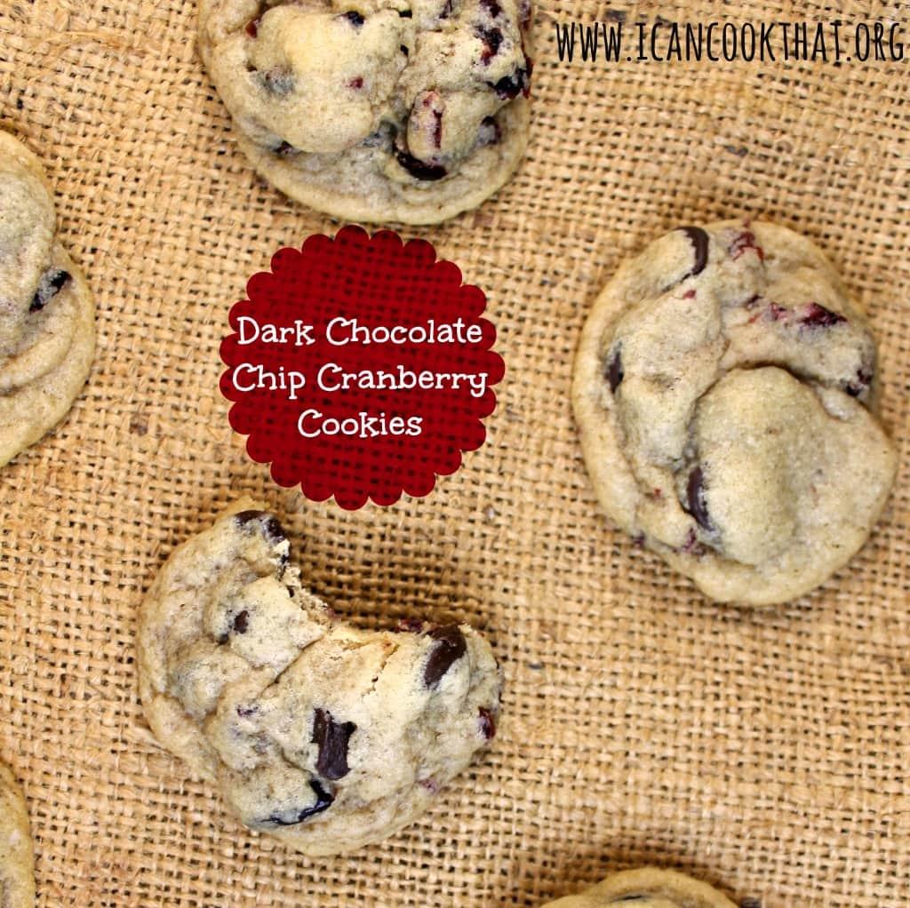 Dark Chocolate Chip Cranberry Cookies #fbcookieswap