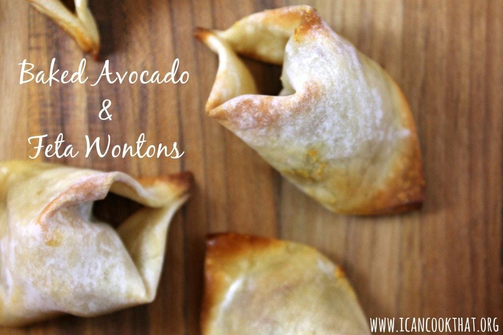 Baked Avocado and Feta Wontons