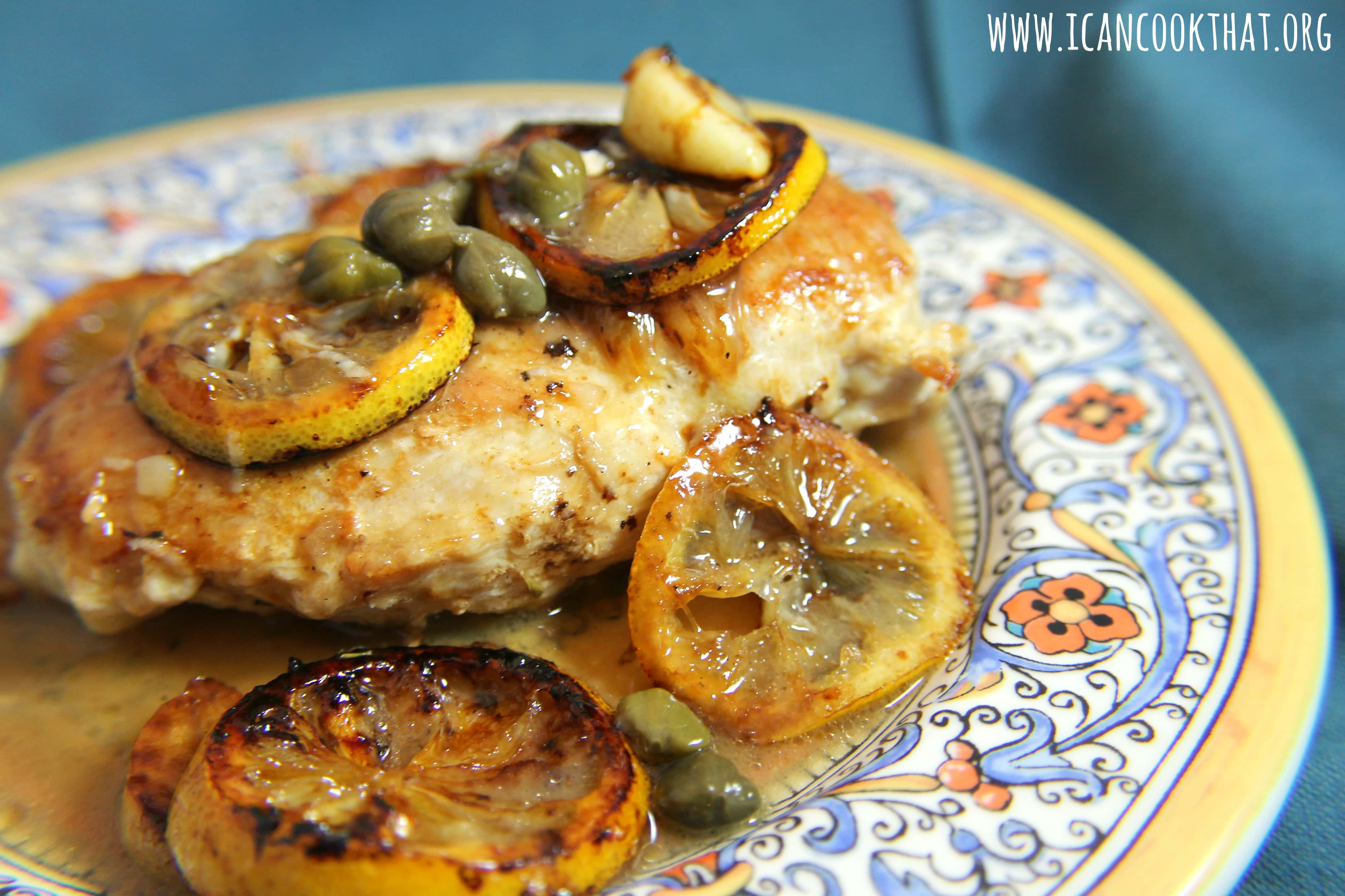 Charred Lemon Chicken Piccata