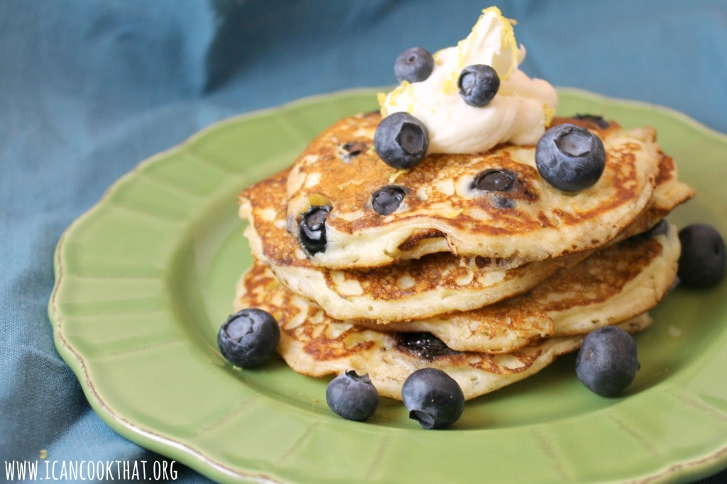 Lemon Ricotta Blueberry Pancakes
