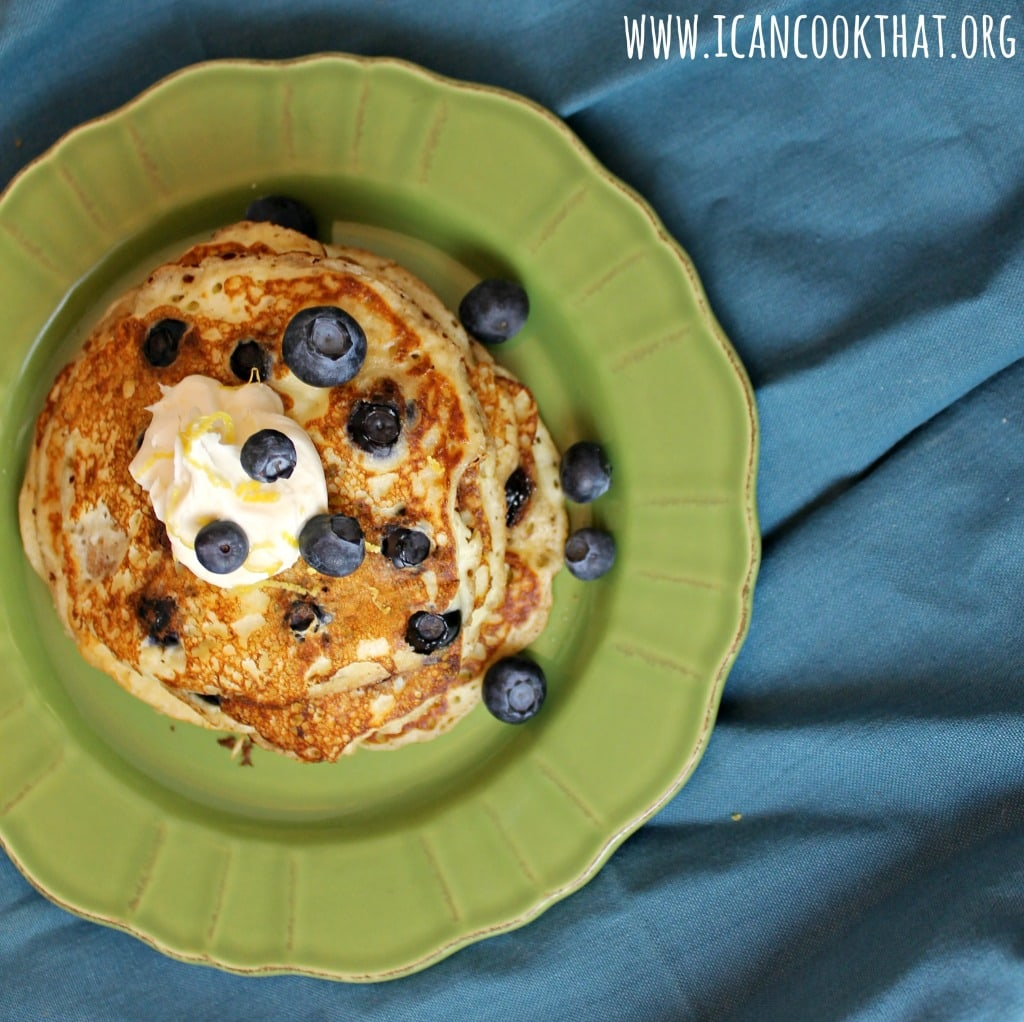 Lemon Ricotta Blueberry Pancakes
