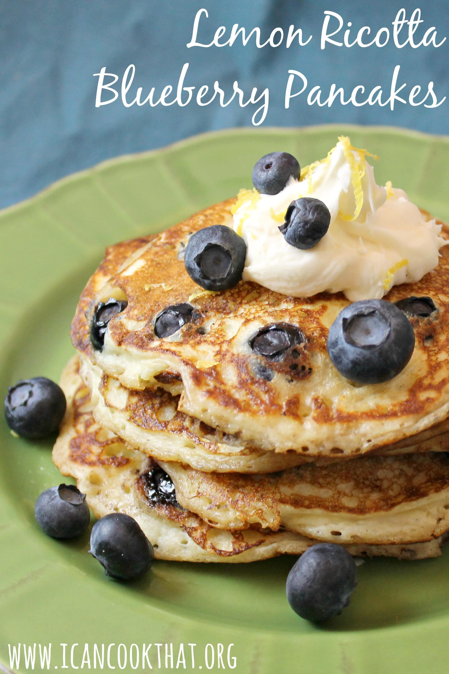 on traditional blueberry pancakes lemon ricotta blueberry pancakes