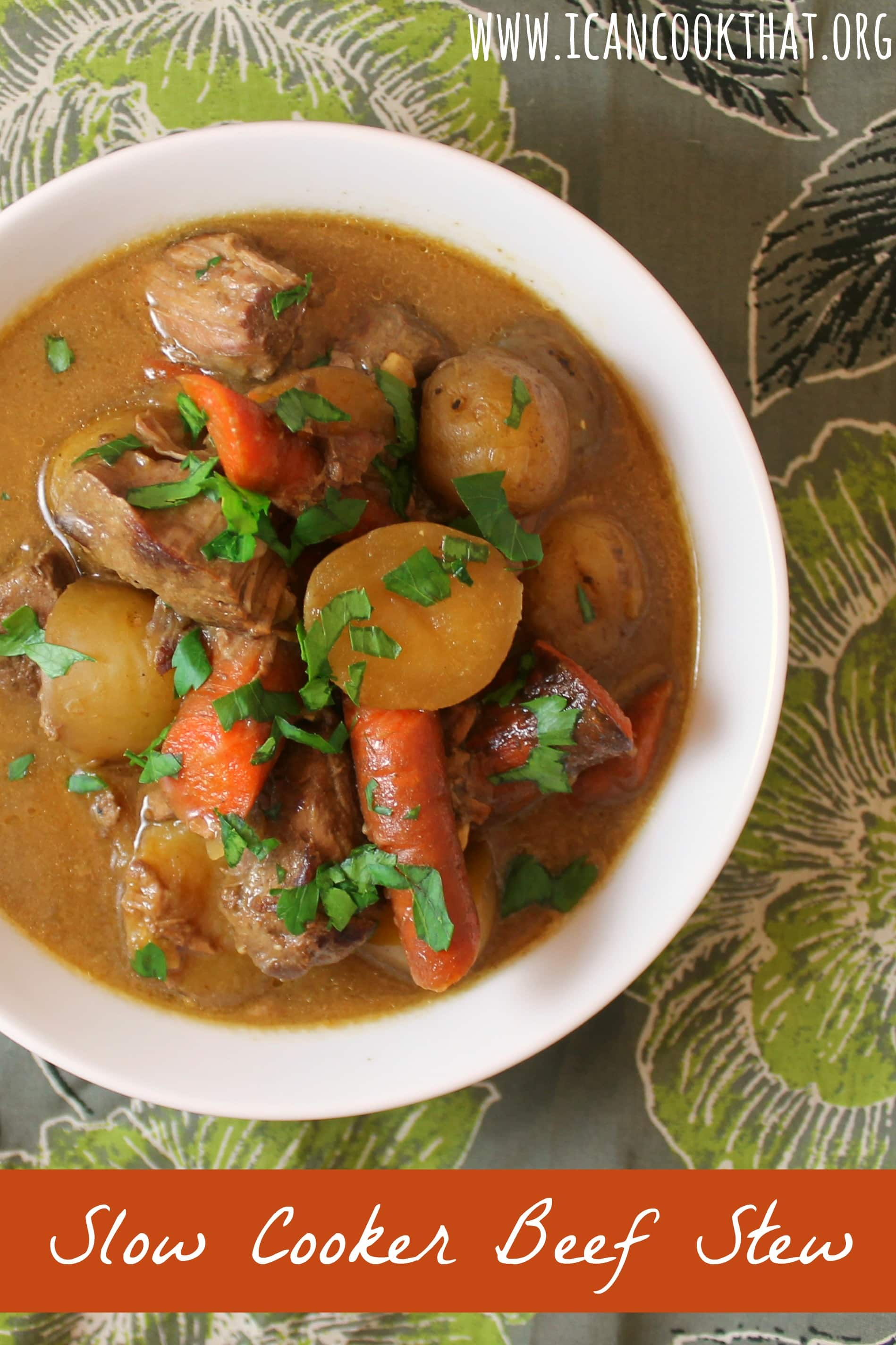 Slow Cooker Beef Stew Recipe | I Can Cook That