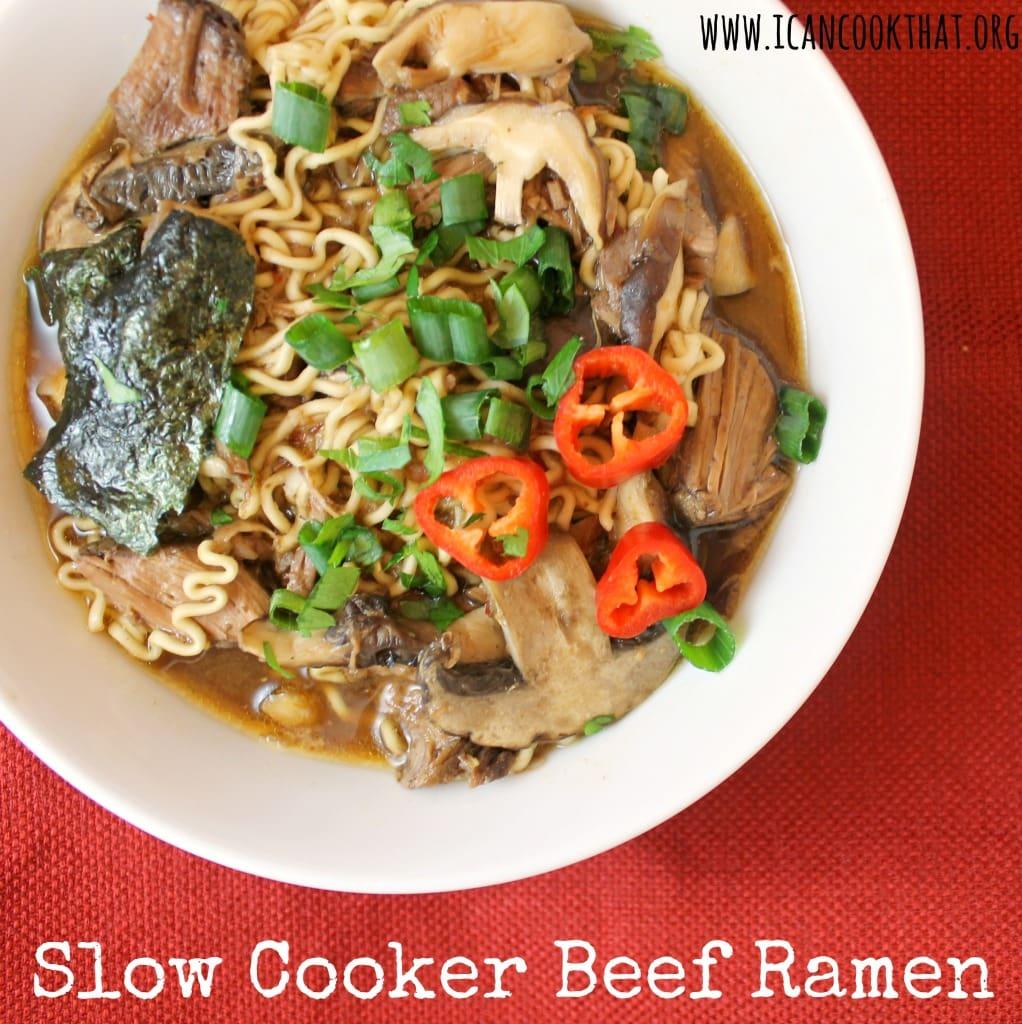 Slow Cooker Beef Ramen