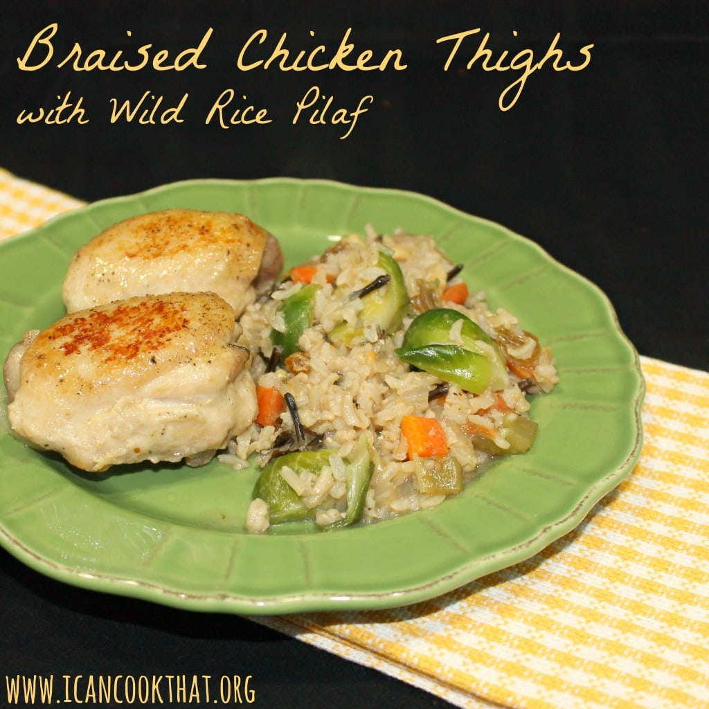 Braised Chicken Thighs with Wild Rice Pilaf