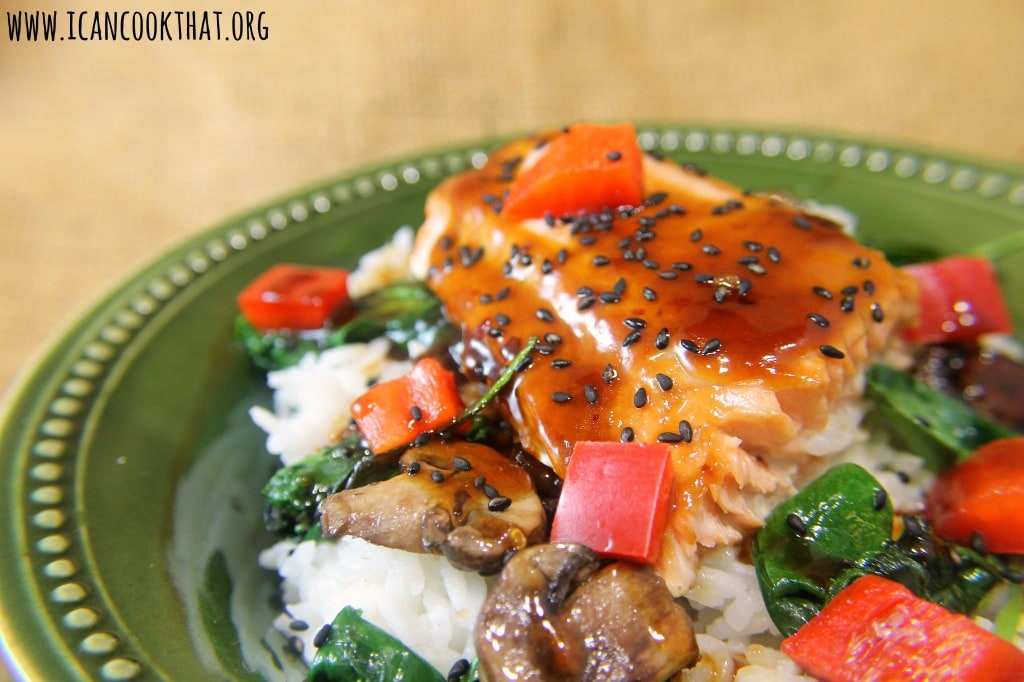 Lime-Teriyaki Salmon Rice Bowls