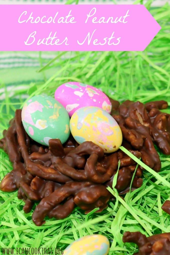 Vegan Chocolate Peanut Butter Nests
