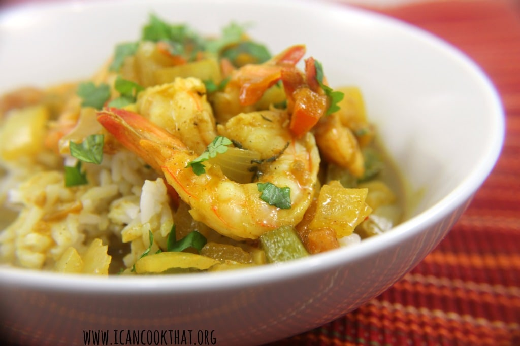 Curry Shrimp in Coconut Milk & Preview of Caribbean Cuisine Week