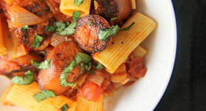 Smoked Sausage with Rigatoni