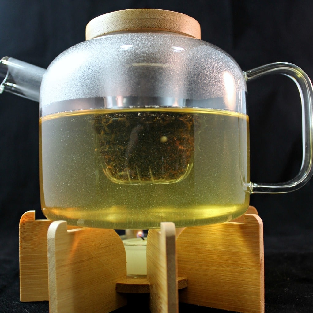 UncommonGoods Glass Teapot With Stand