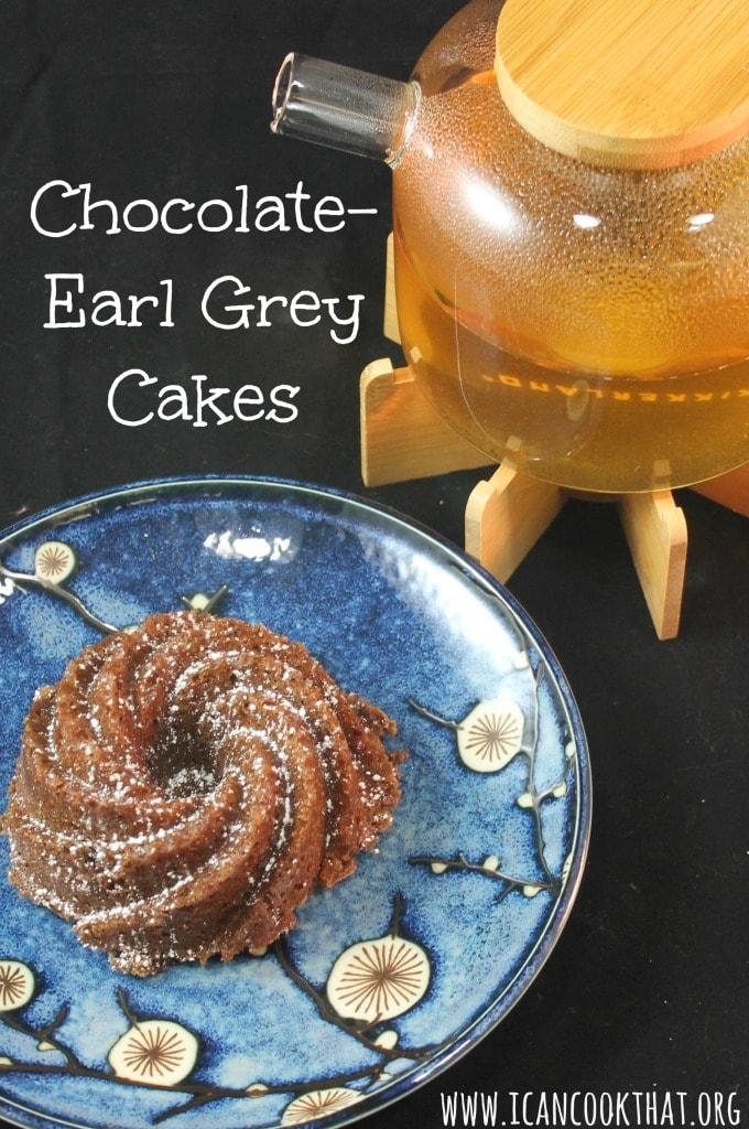 Mini Chocolate-Earl Grey Cakes