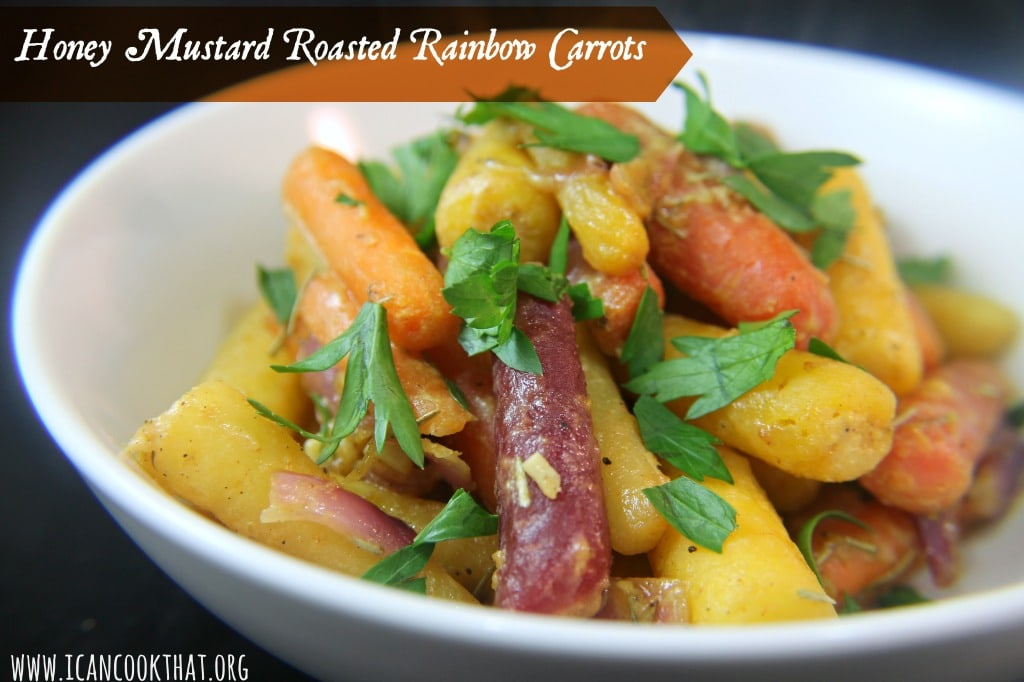 Honey Mustard Roasted Rainbow Carrots