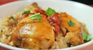 Slow Cooker Saucy Chicken over Rice