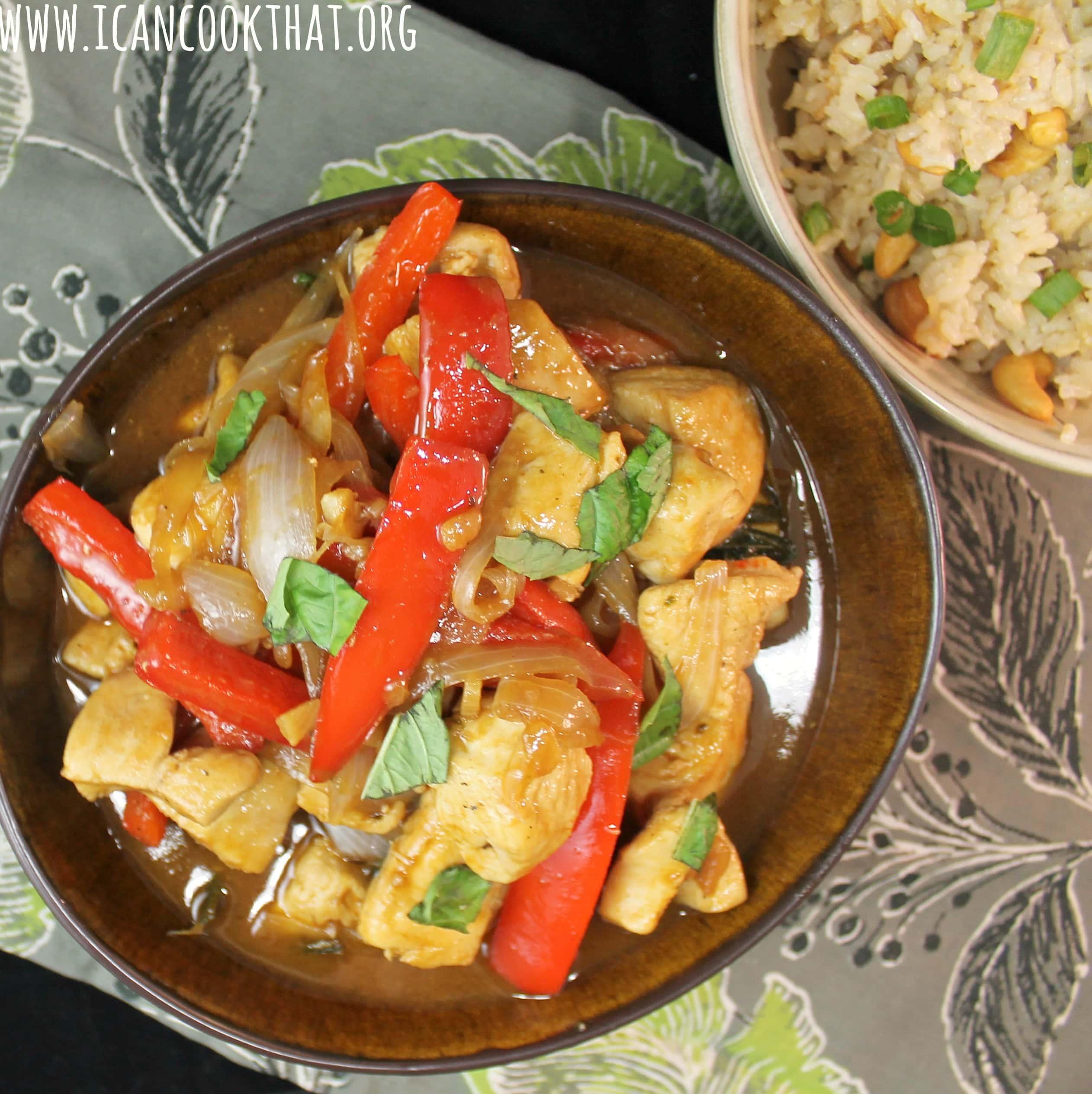 Thai Basil Chicken Stir-Fry Recipe | I Can Cook That