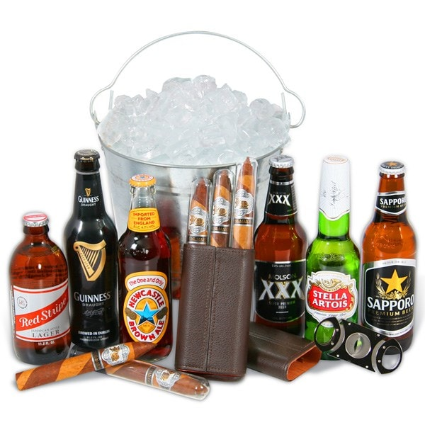 Cigars and Beers For Dad Bucket