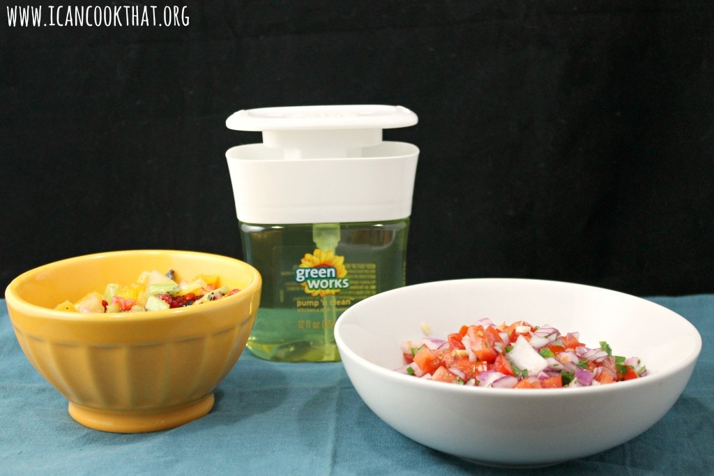 Homemade Fresh Salsas and Keeping #NaturallyClean with Clorox Green Works