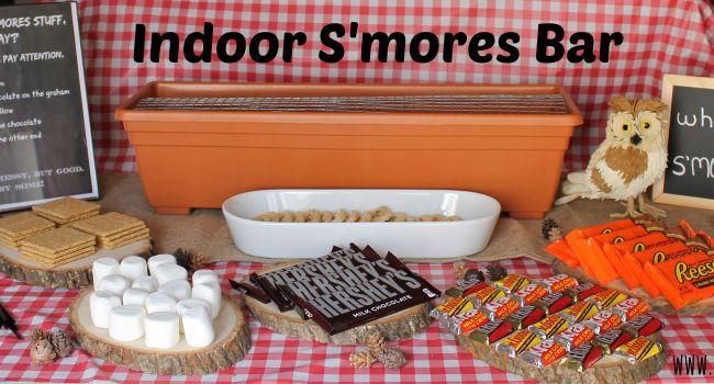 Indoor S'mores Bar #LetsMakeSmores