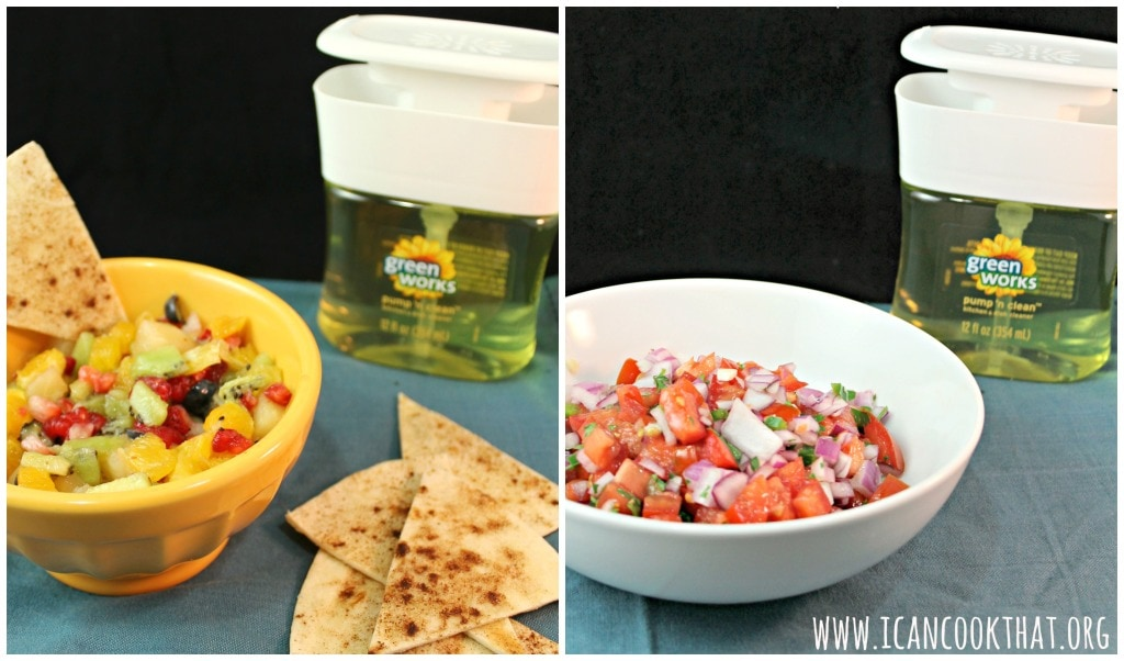 Fresh Salsa and Fruit Salsa #Nautrally Clean #ad