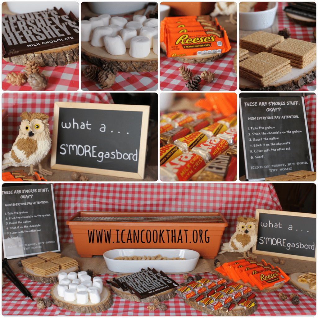 how to make an indoor smores bar