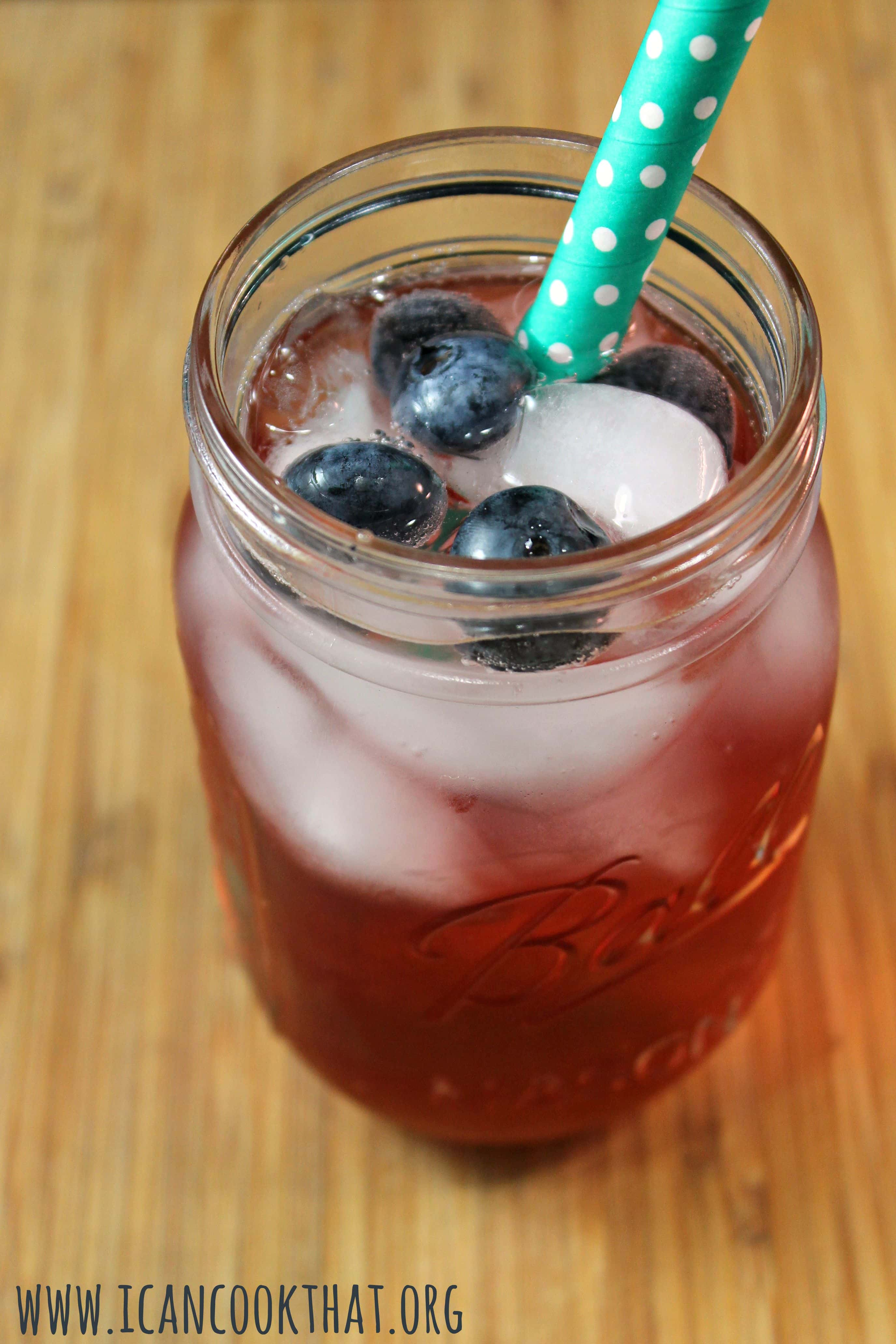 Sparkling Blueberry Pomegranate Cocktail