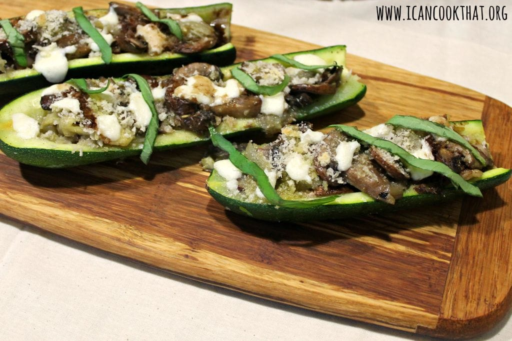 Vegetarian Stuffed Zucchini Boats #MyFarm2Table