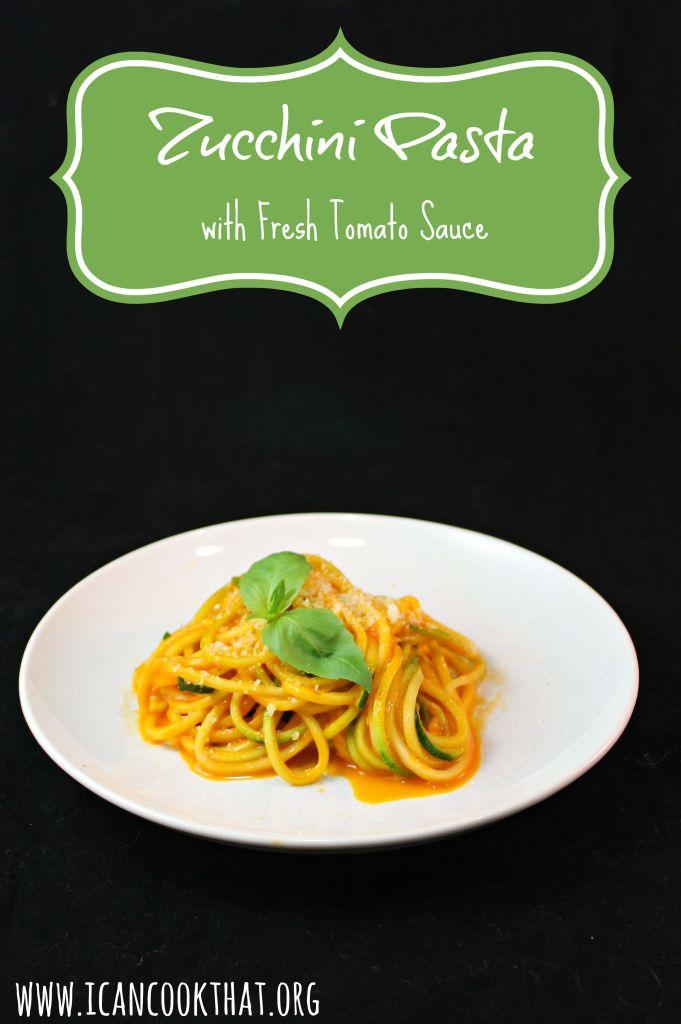 Zucchini Pasta with Fresh Tomato Sauce