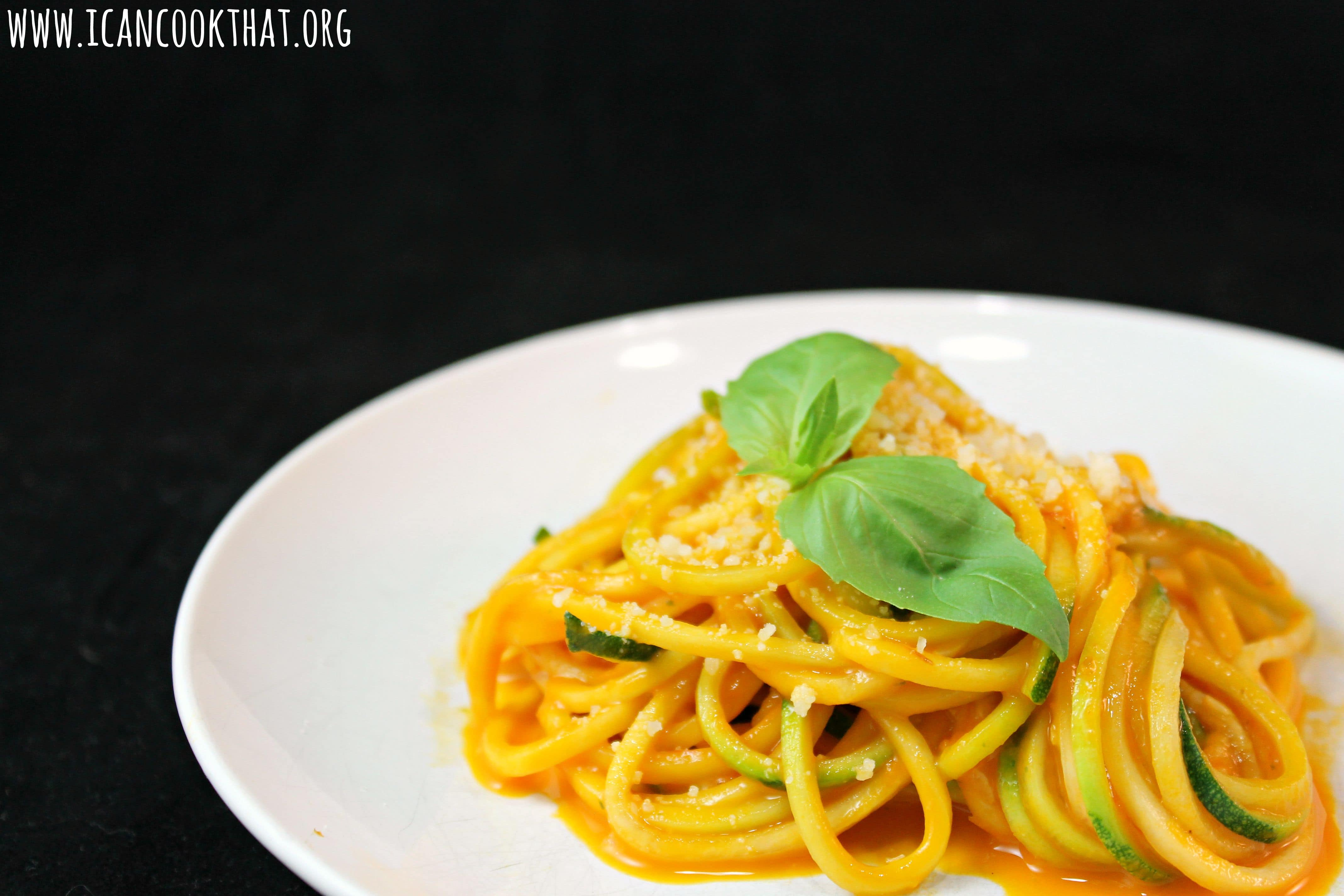 Zucchini Pasta with Fresh Tomato Sauce Recipe | I Can Cook ...