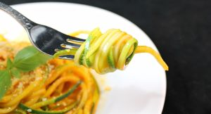 Zucchini Pasta with Fresh Tomato Sauce