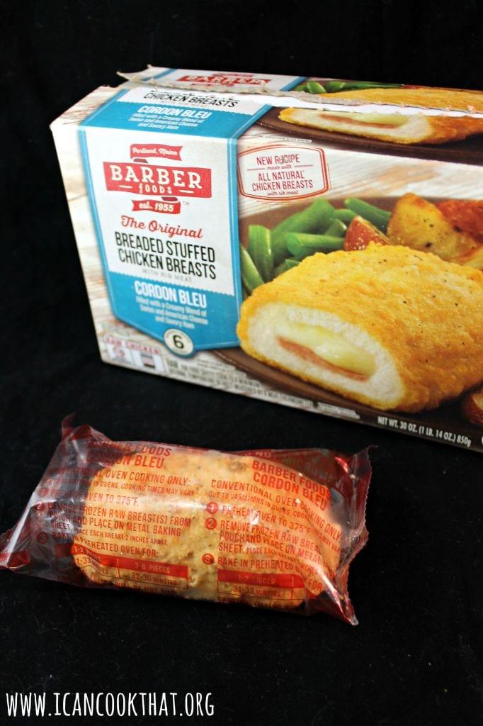 New Barber Foods Chicken Cordon Bleu & Sauteed Green Beans #SimplySpecialMeals