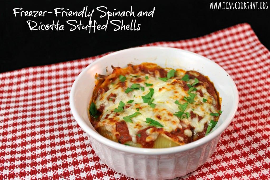 Freezer-Friendly Spinach and Ricotta Stuffed Shells