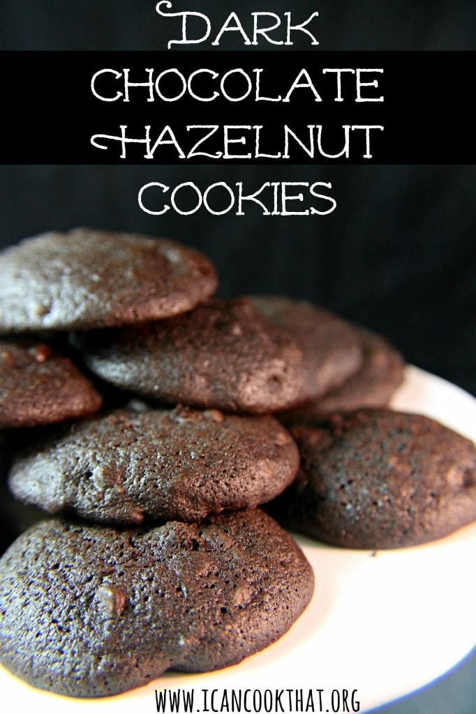 Dark Chocolate Hazelnut Cookies #OXOGoodCookies