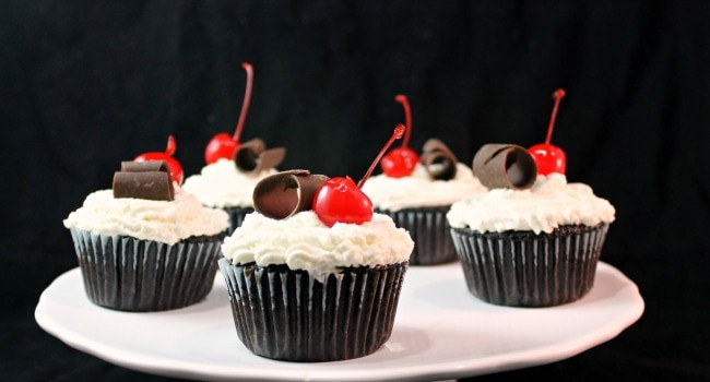 Black Forest Cupcakes #Choctoberfest