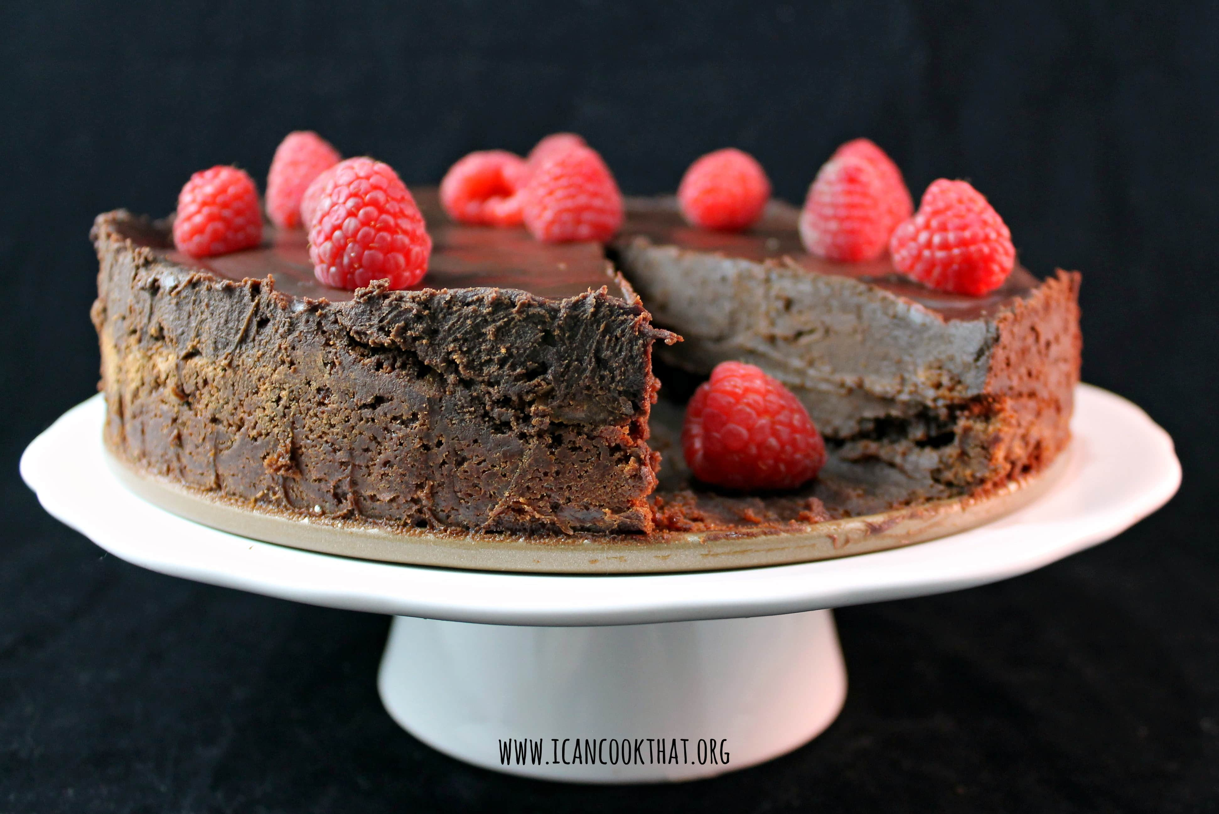 Flourless Chocolate Cake with Dark Chocolate Ganache Recipe | I Can ...