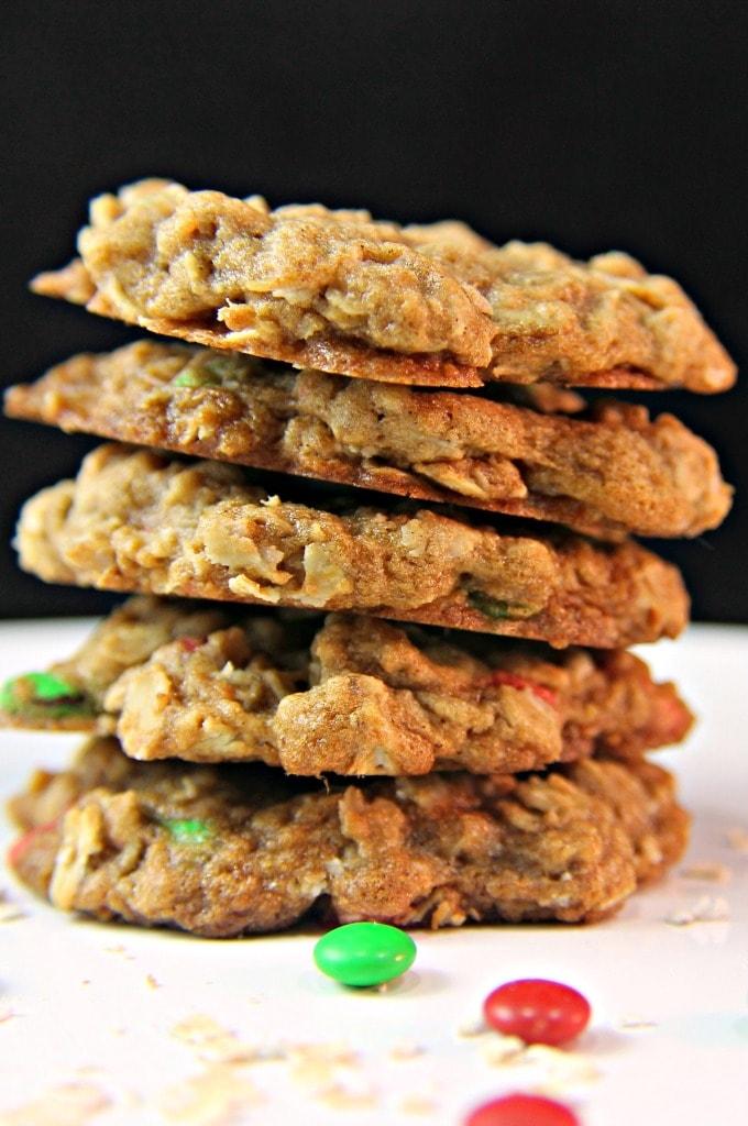 Spiced Oatmeal M&M's® Cookies #MemoriesInTheBaking