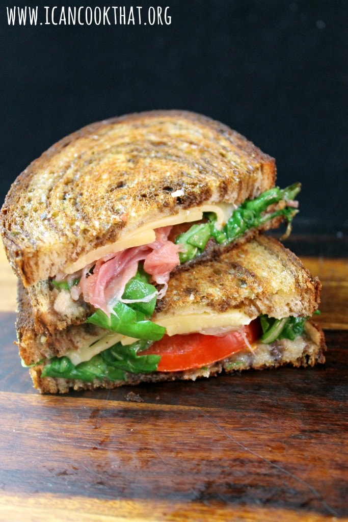 Dubliner Cheese Toasties with Prosciutto and Tomato